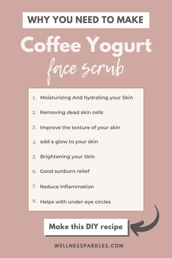 benefits of coffee and yogurt scrub