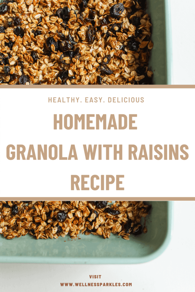 healthy granola with raisins recipe 1