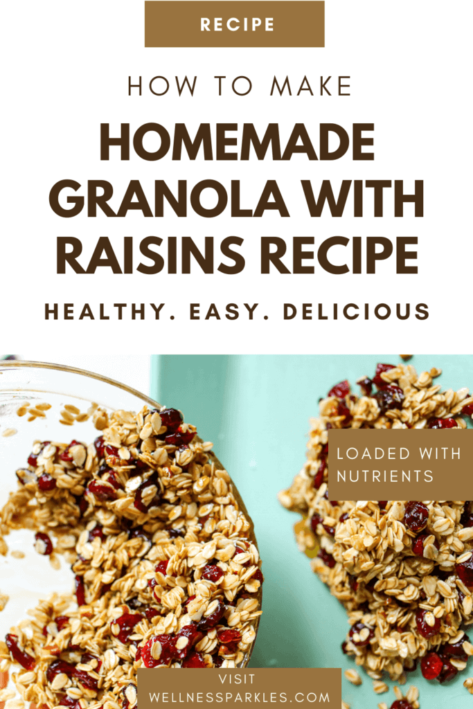 homemade granola with raisins recipe