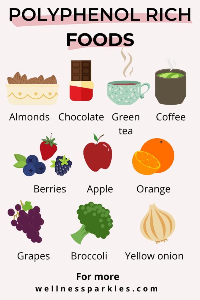 Polyphenol rich foods for brain health