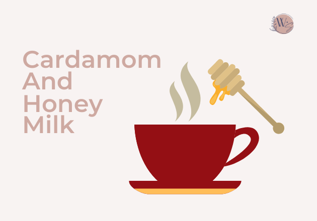 cardamom and honey milk 1