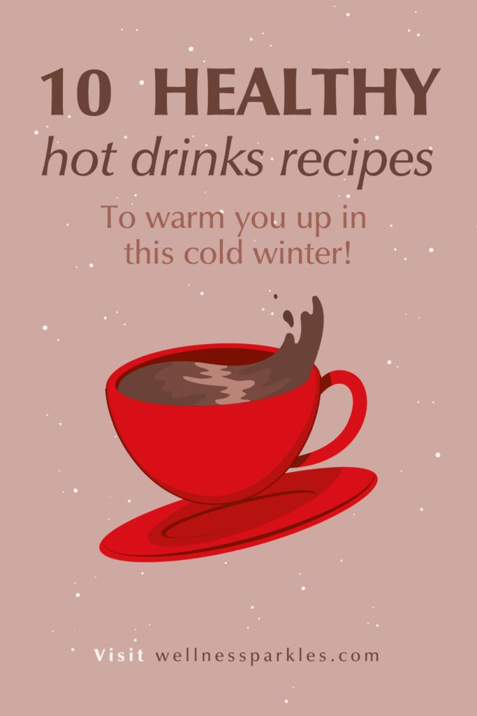 Hot drinks recipes for winter illustration