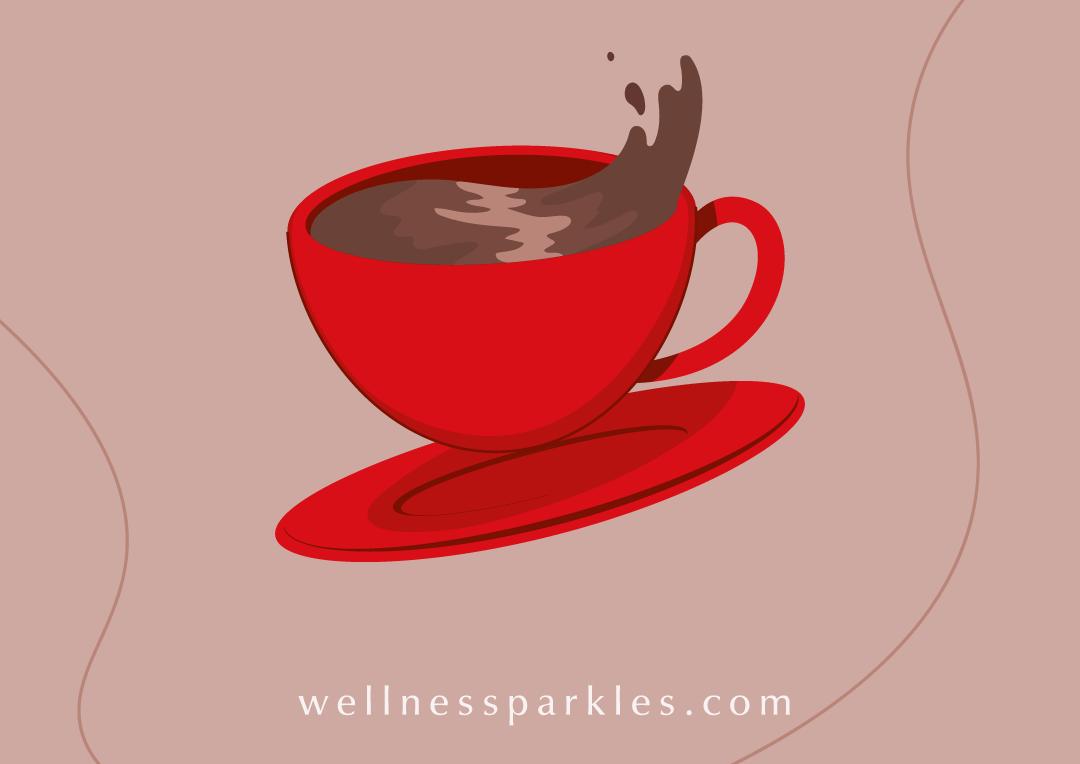 hot drinks recipes illustration