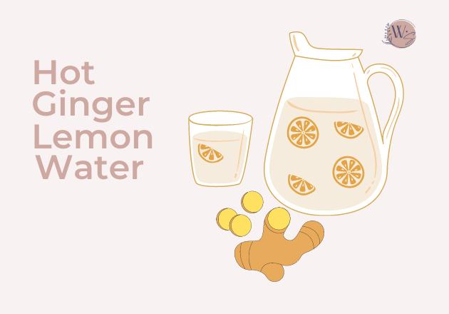 hot ginger lemon water