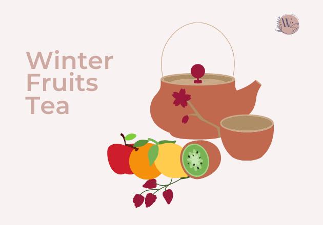winter fruits tea 1