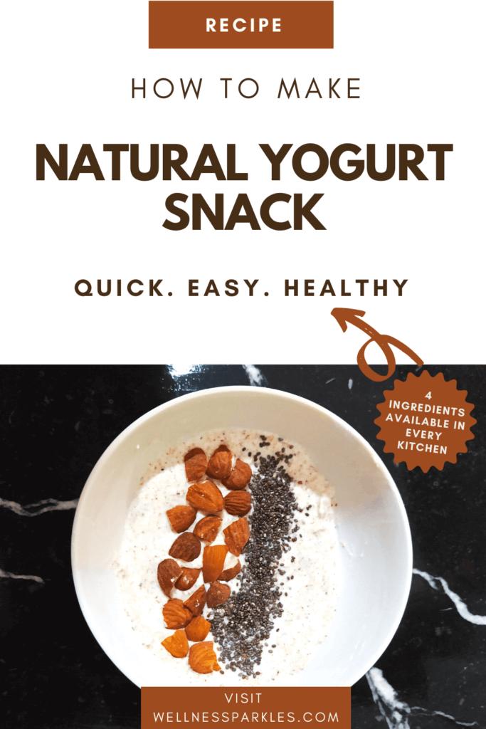 how to make natural yogurt snack recipe pin