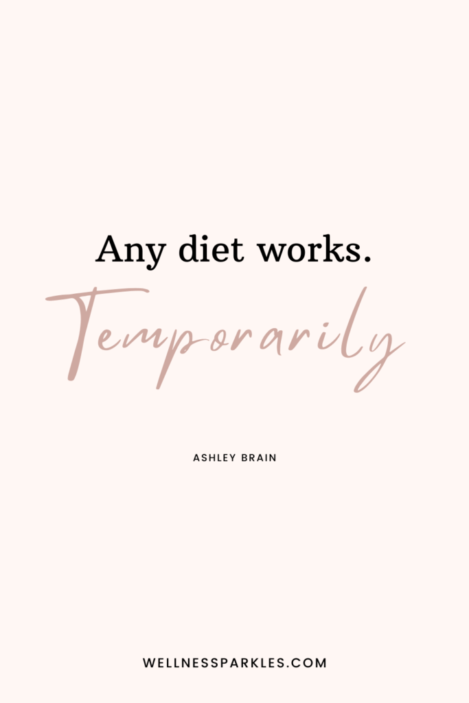 any diet works temporarily