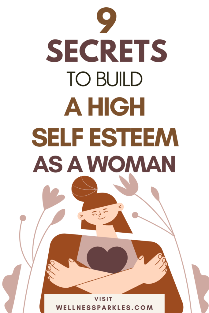 ways to build high self esteem as a woman illustration